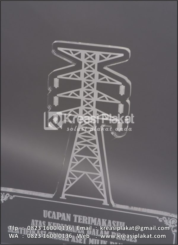 Detail Plakat Akrilik Grafir Tower